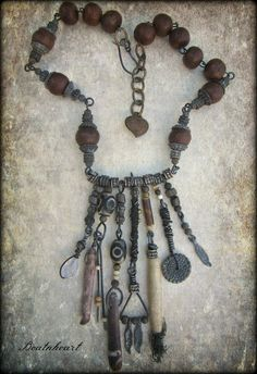 Truths and LiesTalisman gothic boho long necklace by beatnheart