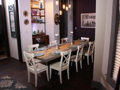 The Dining Space - A Hatmaker Home Renovation on HGTV