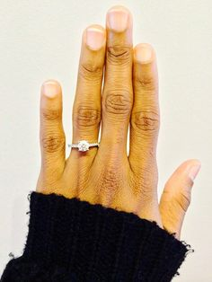 """""""Thanks so much for helping my fiancé pick this perfect ring for me. I love it!"""" - Martiña W. #pave #engagement #ring"""