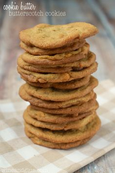These Cookie Butter Butterscotch Cookies are delicious, simple, and so easy to make