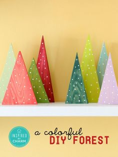 Create this Colorful DIY Forest to enhance your holiday decorating.