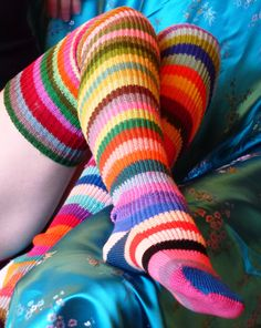 Hand KNITTED COTTON SOCKS