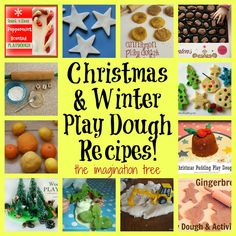 12 Christmas and Winter Play Dough Recipes - The Imagination Tree