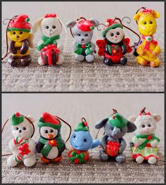 Animal Christmas Ornaments by rockybeads, via Flickr