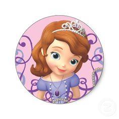 Sofia Round Sticker
