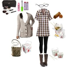 legging outfit...cute with all accesories!