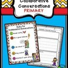 FREE PRIMARY Collaborative Conversations Poster and Recording Sheet w/ Primary Lines
