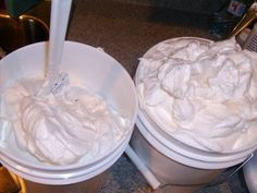 Recipe and photo tutorial for whipped cream soap.
