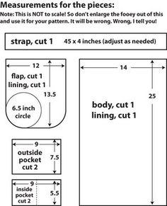mmmcrafts: the basic messenger bag tutorial