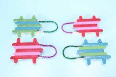 Popsicle Stick Sleds