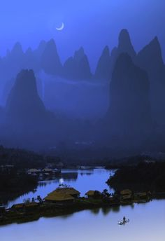 Fishing Village in Guilin, China
