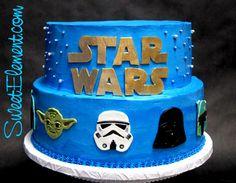 Show me your cake! :  wedding fondant purple superhero tiered Buttercream Star Wars Grooms Cake