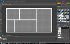 How to make a storyboard scrapbook template in Photoshop (or GIMP)