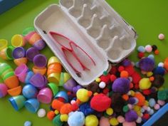 INVITATION TO PLAY - Easter Theme Sensory Play Table (Lots of fun ideas for fine motor development)