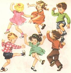 """""""Jerry at School"""", 1949 Golden Books.  Illustrated by Corinne Malvern."""