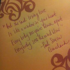 Paul Simon Graceland - losing love
