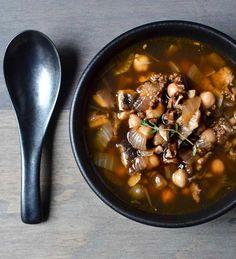Chorizo Shiitake Chickpea Soup