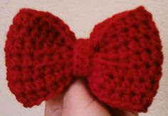 crochet bow free pattern, nice bow, red bow, perfect bow, bows, crochet bow pattern free