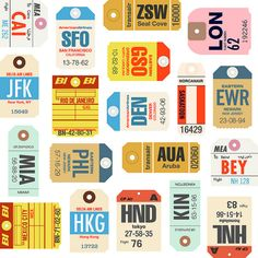 airline tags - printable for all kinds of projects