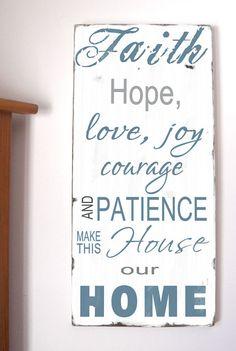 Family Rules Faith Hope Love Joy  Make This House