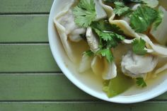 Wonton Soup with Homemade Wonton Wrappers