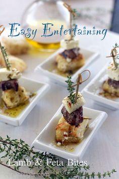 Lamb Feta Party Bites