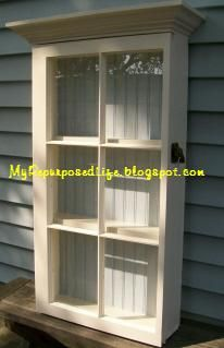 Repurpose~ Old windows into a cabinet display~