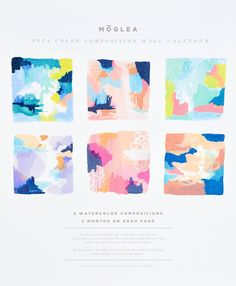 Color Composition 2014 Calendar