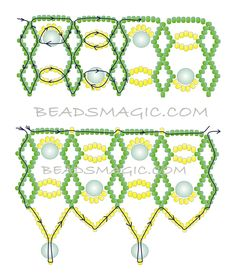bead magic, bead necklac, beaded necklaces, free pattern, seed beads
