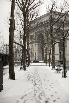 Wintertime in Paris.