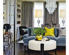 Blue and Chartreuse Decor