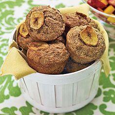 Whole-Wheat Banana Muffins | MyRecipes.com #myplate #grains
