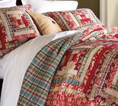 Log Cabin Patchwork Quilt -- perfect for the fall and winter months :-)