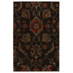 Canton Dark Brown 8 ft. x 10 ft. Area Rug - 311827 at The Home Depot