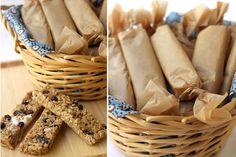 Barra de granola com manteiga de amendoim e chocolate!