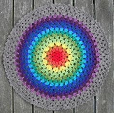 granny mandala / granny circle free #crochet pattern
