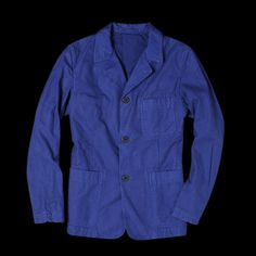 UNIONMADE - Beams+ - French Workers Jacket in Cobalt Blue