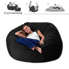 Convertible Foam Bean Bag Bed ==> http://www.lovedesigncreate.com/corda-roys-queen-size-convertible-foam-bean-bag-bed-in-micro-suede-color-material-microsuede/