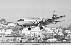 Douglas DC-4 Western landing at San Diego