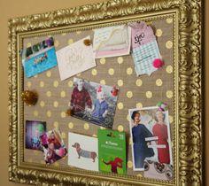 DIY Fancy Bulletin Board