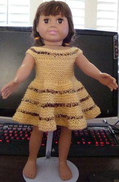 Ladyfingers - AG doll - Very Easy Dress - All Garter Stitch
