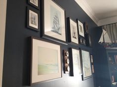 Chris office :: eclectic nautical wall
