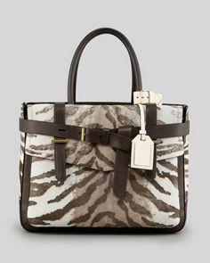 Reed Krakoff Boxer Tote Bag,  Chocolate Tiger - Neiman Marcus