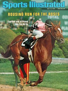 Affirmed  1978  The great-great grandson of Triple Crown winner War Admiral, Affirmed battled with Alydar in all three races, beating his rival by 1 1/2 lengths in the Derby, a neck in the Preakness, and a nose in the Belmont.