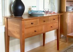 Cherry wood huntboard. A staple of the traditional kitchen.