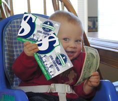 This Baby Loves his SaveAround Coupon Books!