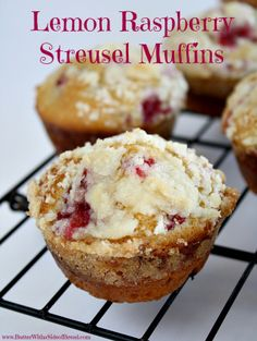 Lemon Raspberry Streusel Muffins : Butter, with a Side of Bread #recipe #muffins