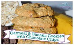 Oatmeal & Banana Cookies with Chocolate Chips