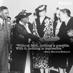 Mary McLeod Bethune became the first African American woman to head a federal agency when she was appointed to Director of the Division of Negro Affairs in 1938.
