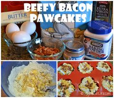 Nothing beats Beefy Bacon Pawcakes for a dog's birthday cake! via @mygbgvlife  #dogbirthday #dogtreat #diy